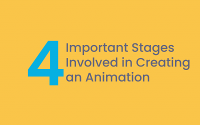 The 4 important stages involved in creating an animation